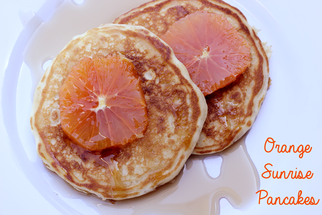 Orange Sunrise Pancakes